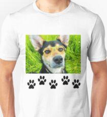 Geek Dog Buddy In Glasses Unisex T-Shirt