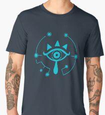 The Legend of Zelda: Breath of The Wild - Blue Sheikah Eye Symbol Men's Premium T-Shirt
