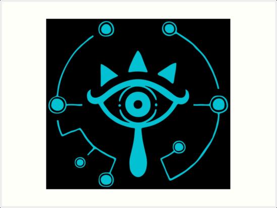 The Legend Of Zelda Breath Of The Wild Blue Sheikah Eye Symbol