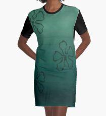 Sea Bottom Flower Pattern Graphic T-Shirt Dress