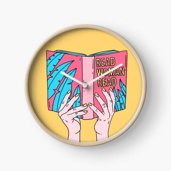 Lire femme lue Horloge