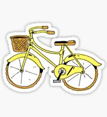Bike yellow sticker