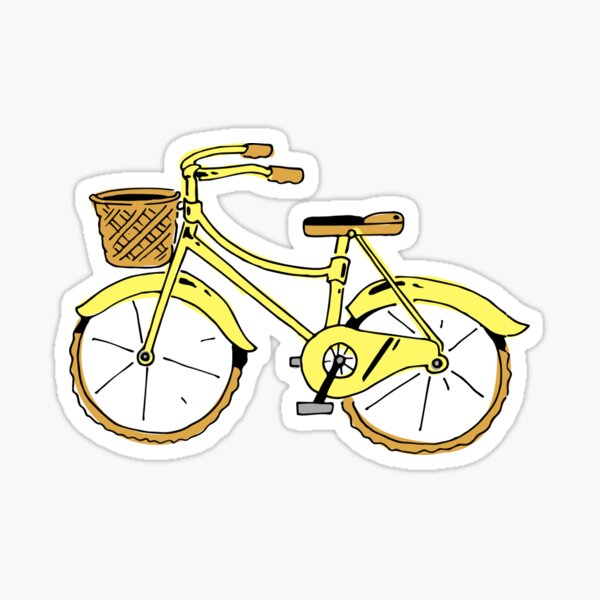 Vélo jaune Sticker