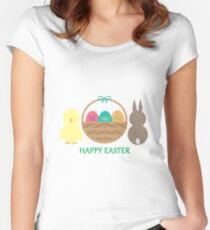 Easter Basket  Women's Fitted Scoop T-Shirt