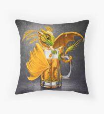 Beer Dragon Throw Pillow