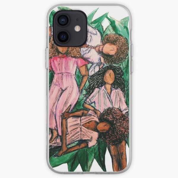 Girls In A Grass Blanket iPhone Soft Case