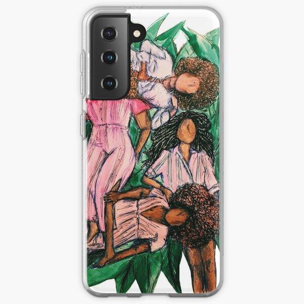Girls In A Grass Blanket Samsung Galaxy Soft Case