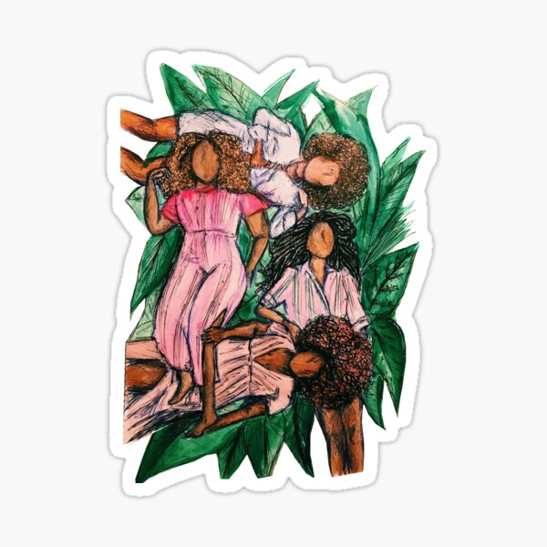 Girls In A Grass Blanket Sticker