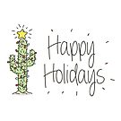 Cactus Holiday Card by AlexGDavis