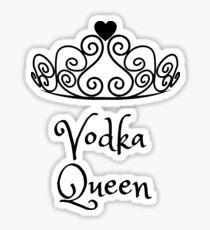 Funny Vodka Queen Sticker