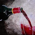 Pouring some red by Russell Halsema