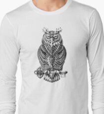 Camiseta de manga larga Gran búho cornado
