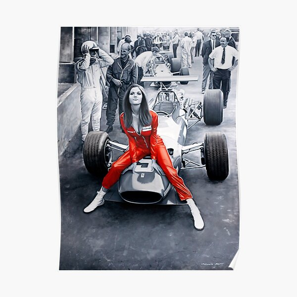 Ferrari 312F1 y Lady in Red Póster