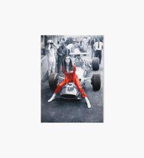 Ferrari 312F1 & Lady in Red Art Board
