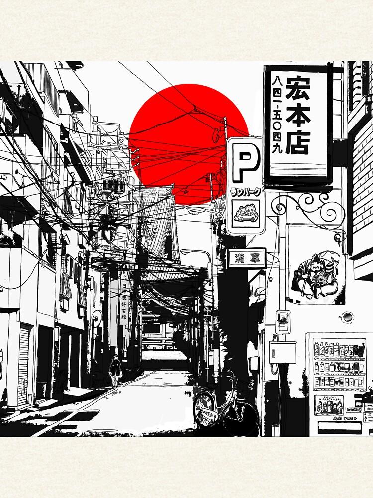 Tokyo Straße Sonnenaufgang von monerty