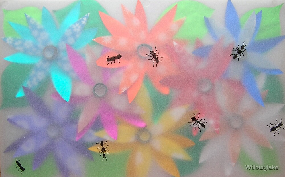 FLOWER POWER WITH ANTS by Willowylake