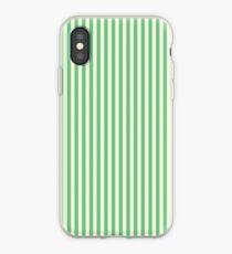 LAGOON & BEIGE STRIPED iPhone Case