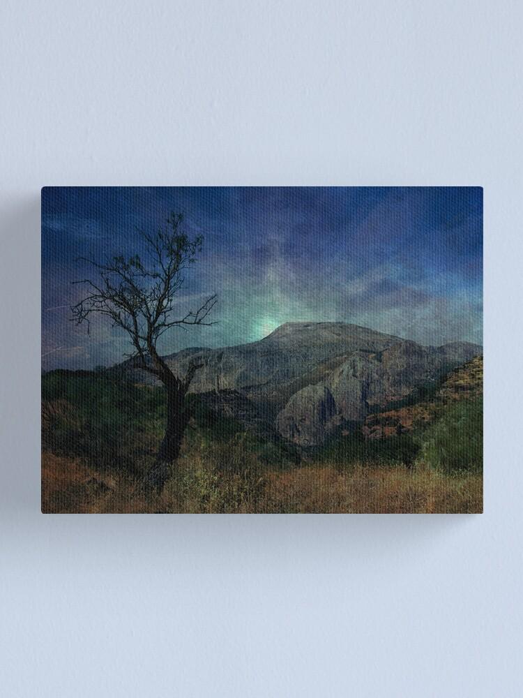 Alternate view of Darkness, death tree Canvas Print