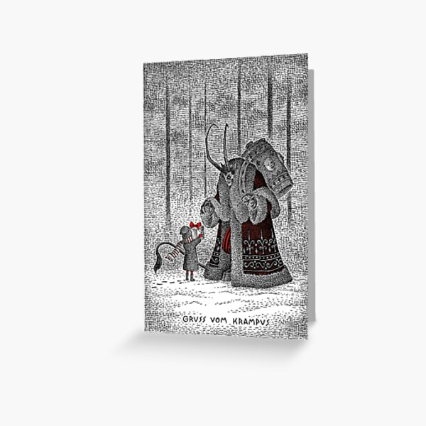 A Gift For Krampus Greeting Card