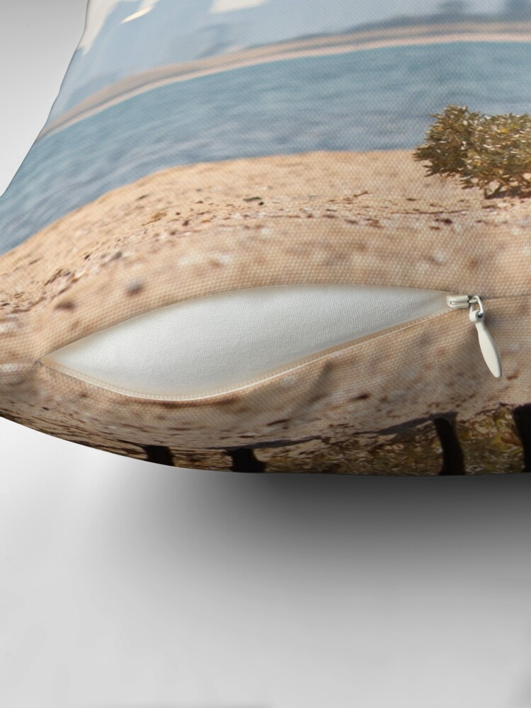 Alternate view of A Day at the Beach Throw Pillow