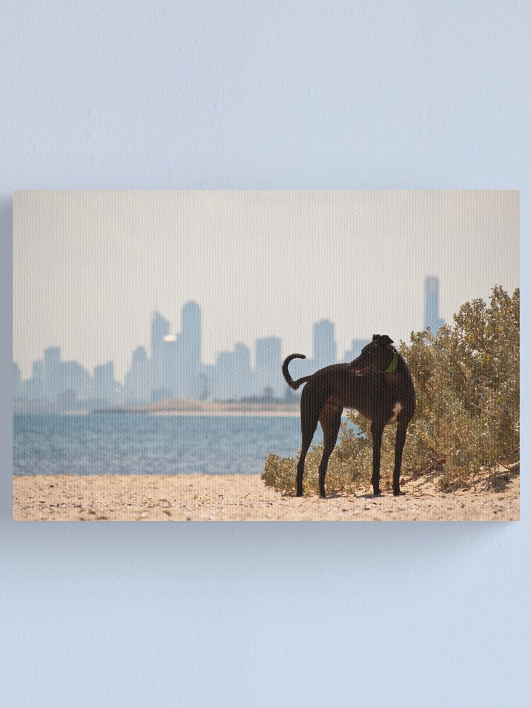 Alternate view of A Day at the Beach Canvas Print