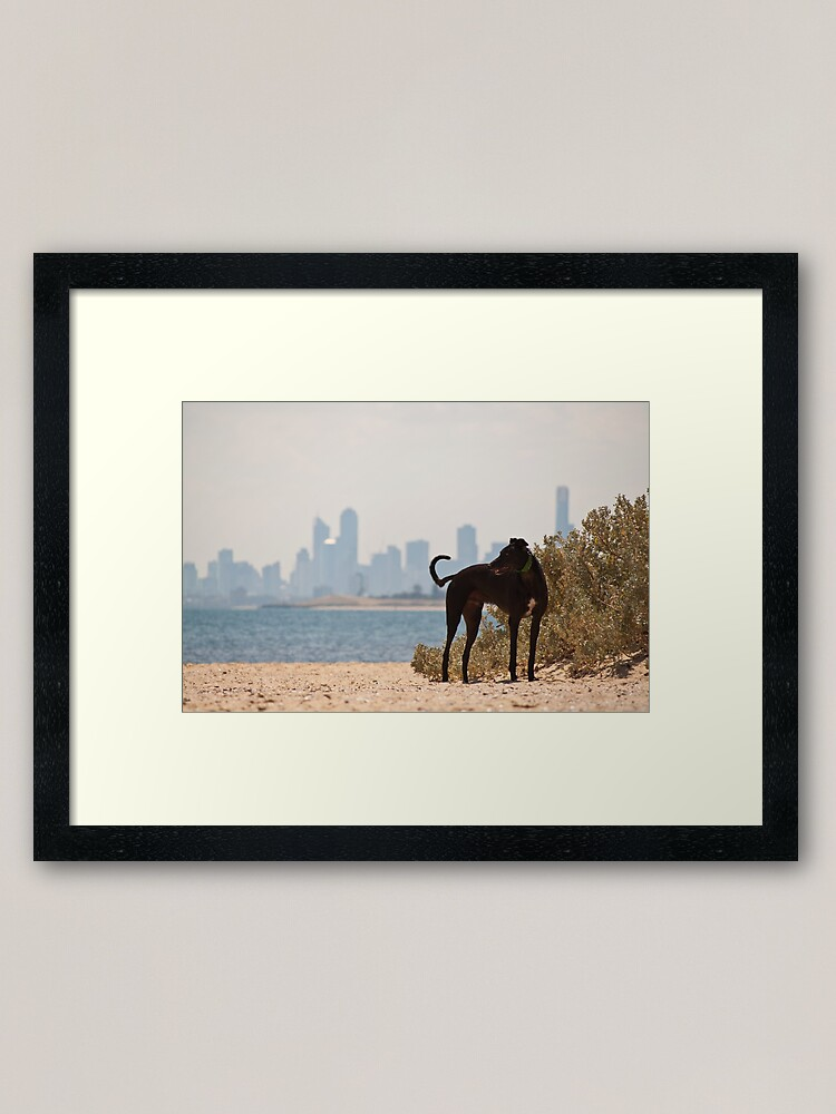 Alternate view of A Day at the Beach Framed Art Print