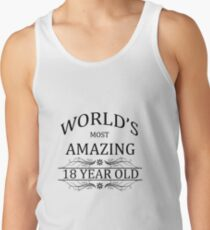 World's Most Amazing 18 Year Old Men's Tank Top