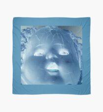 Creepy Blue Doll Face Scarf