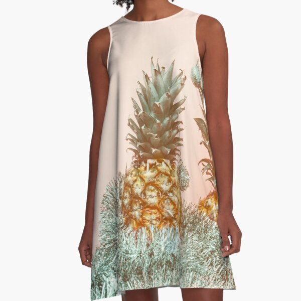Holiday Spirit Pineapples A-Line Dress