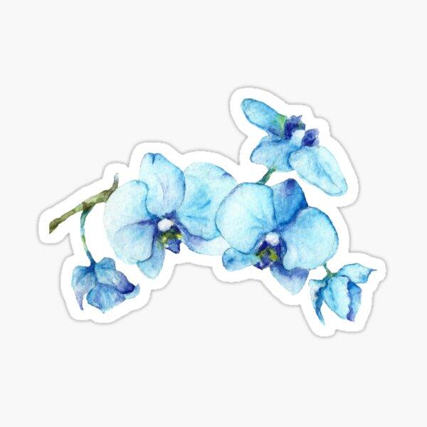 Blue Orchid Botanical Art Sticker