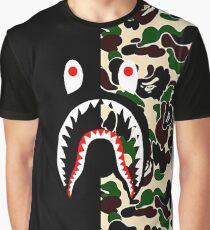 Shark Black Army Bape Graphic T-Shirt