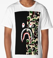 Shark Black Army Bape Long T-Shirt