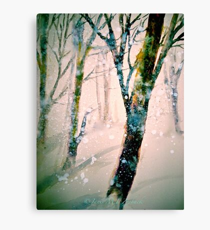A Pale Winter Evening.... Canvas Print