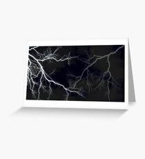 Lightning Crackle Greeting Card