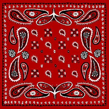 Bandana Paisley Design by footloosefabric