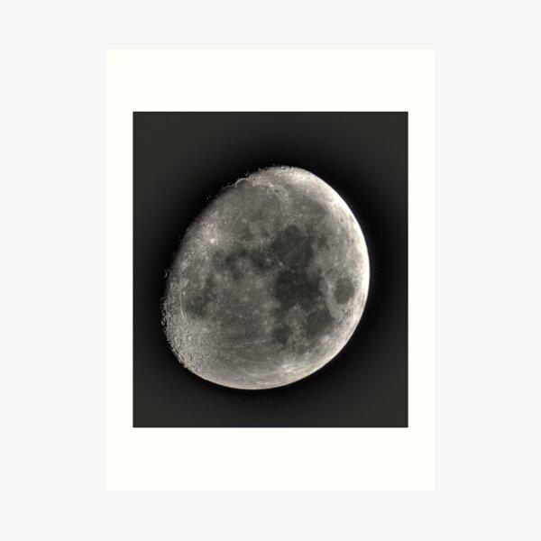 moon in HDR Art Print