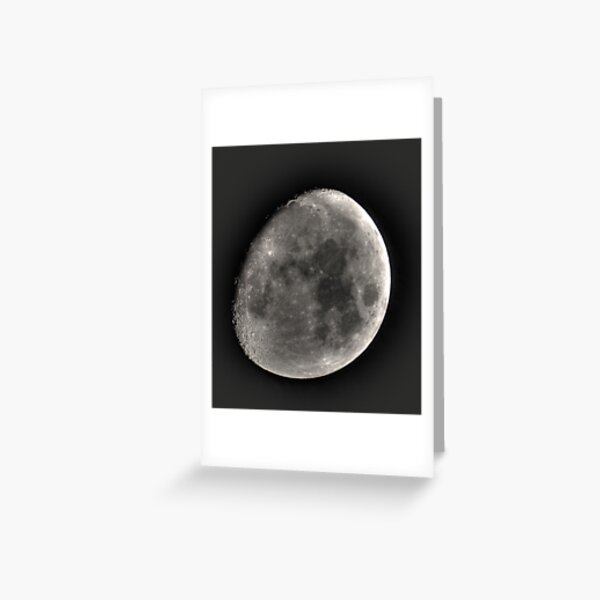 moon in HDR Greeting Card