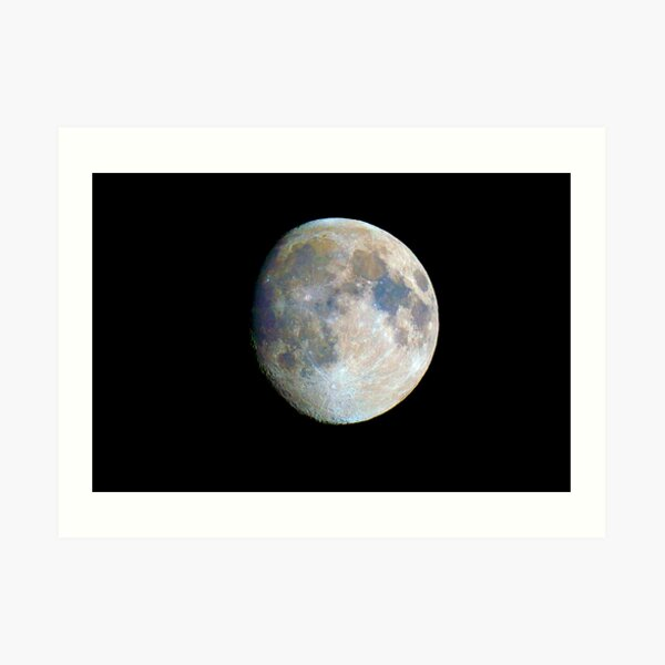 moon in colour Art Print