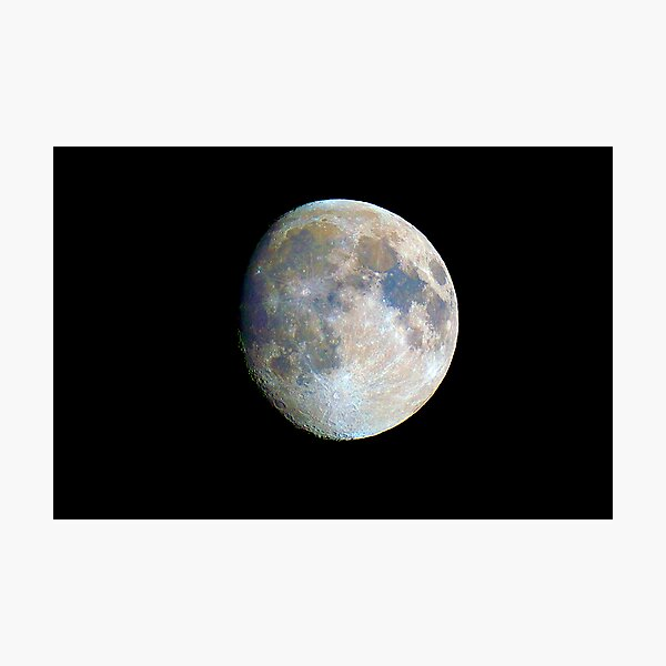 moon in colour Photographic Print