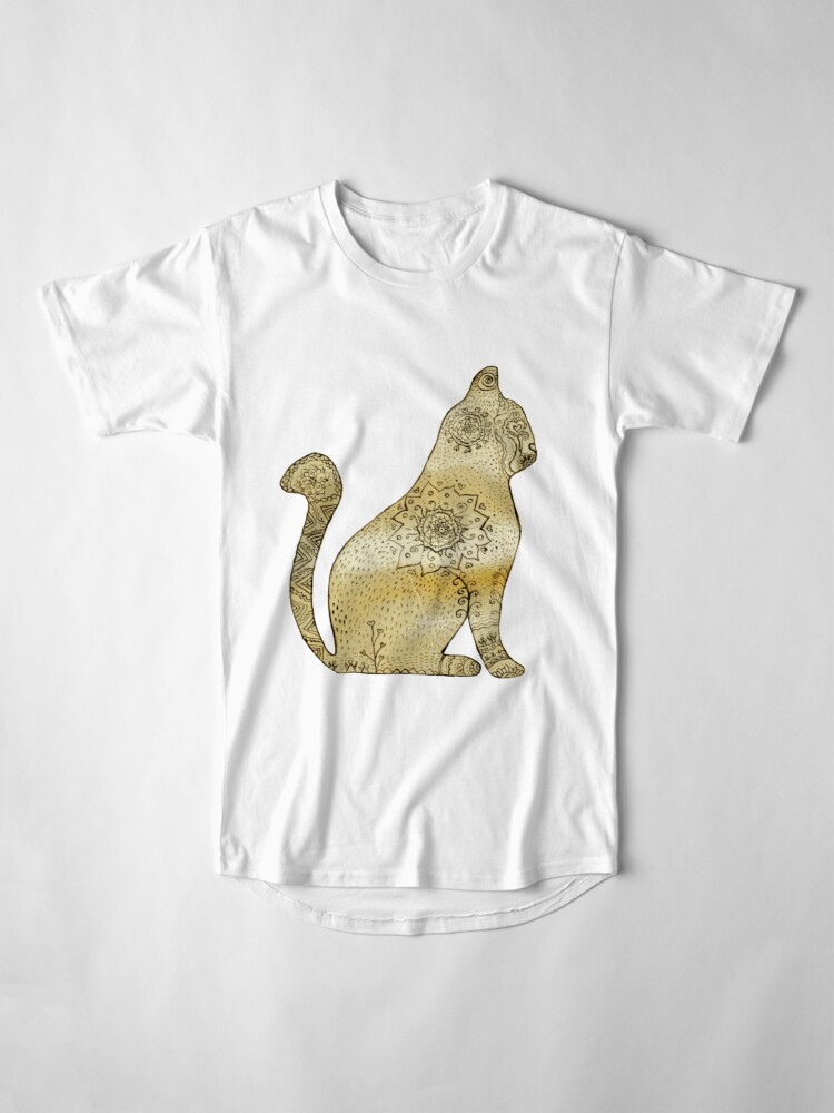 Vista alternativa de Camiseta larga Mandala Cat