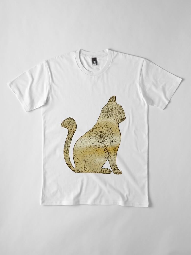 Vista alternativa de Camiseta premium Mandala Cat