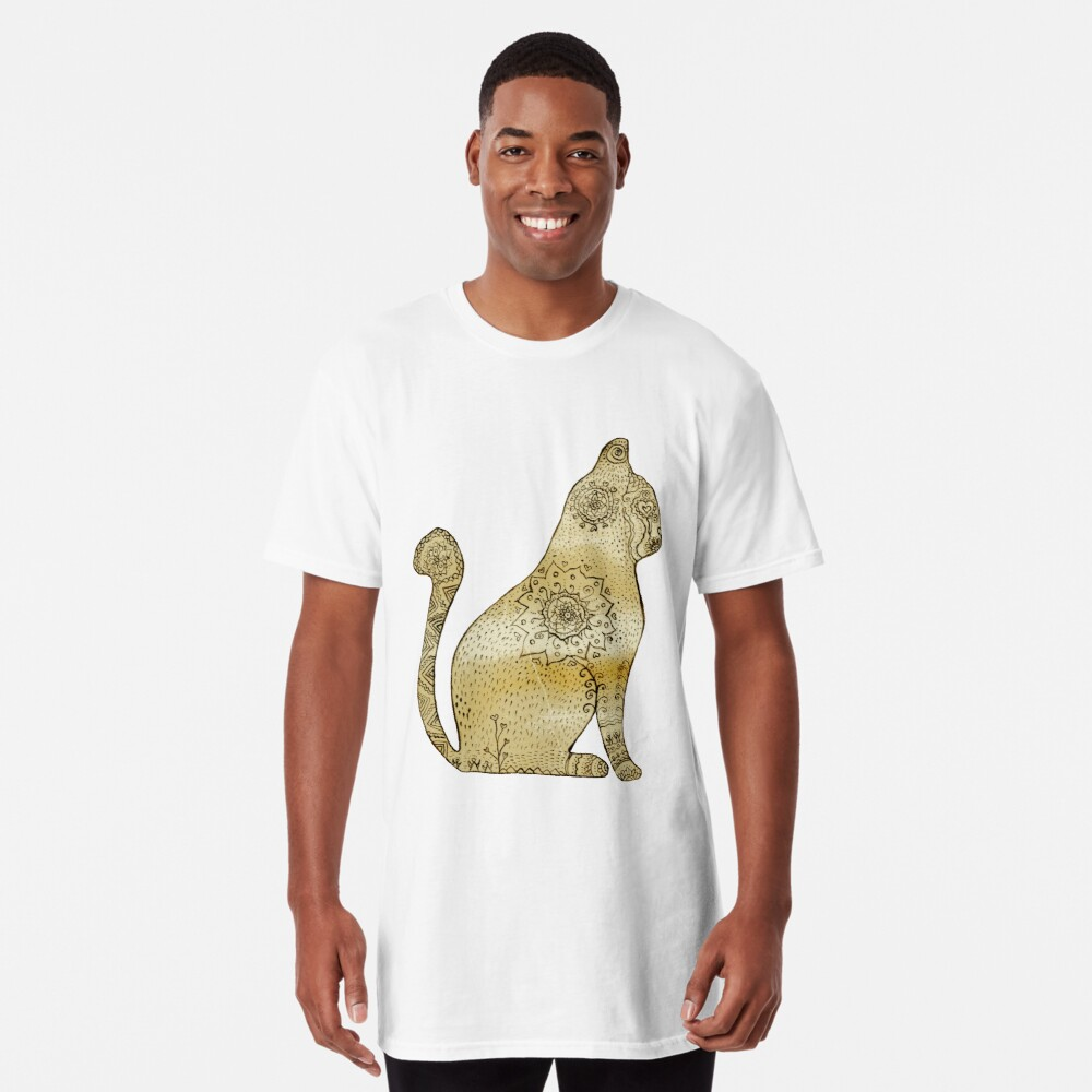 Mandala Cat Camiseta larga