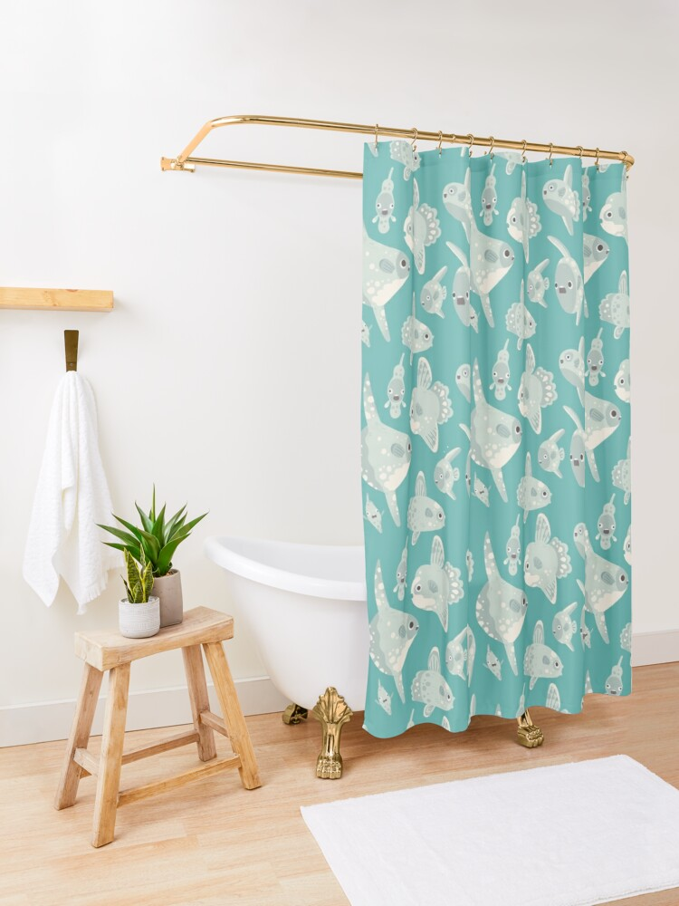 Alternate view of Mola Mola Shower Curtain