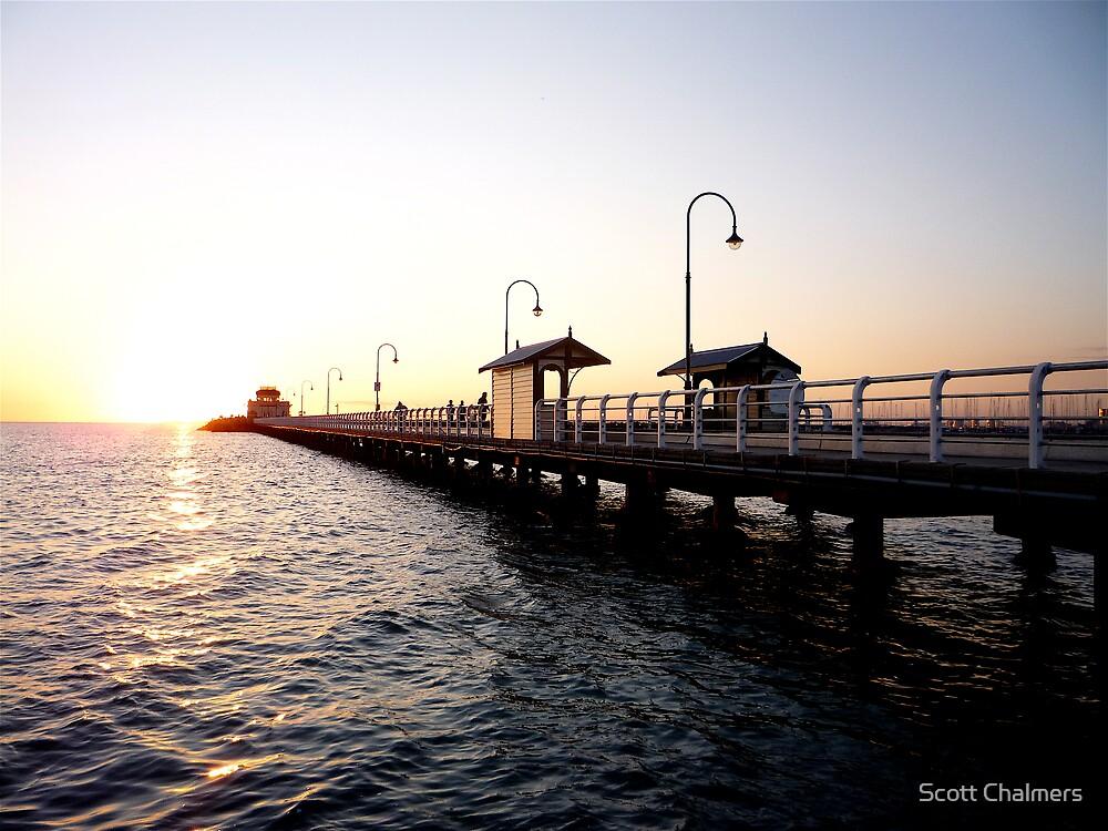 St Kilda Pier @ Sunset 2 by Scott Chalmers