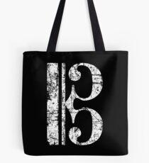 C-Clef, Alto Clef, Viola Key, Tenor Clef Vintage White Tote Bag