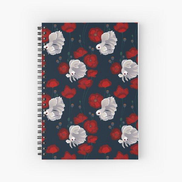Bettas and Poppies Spiral Notebook