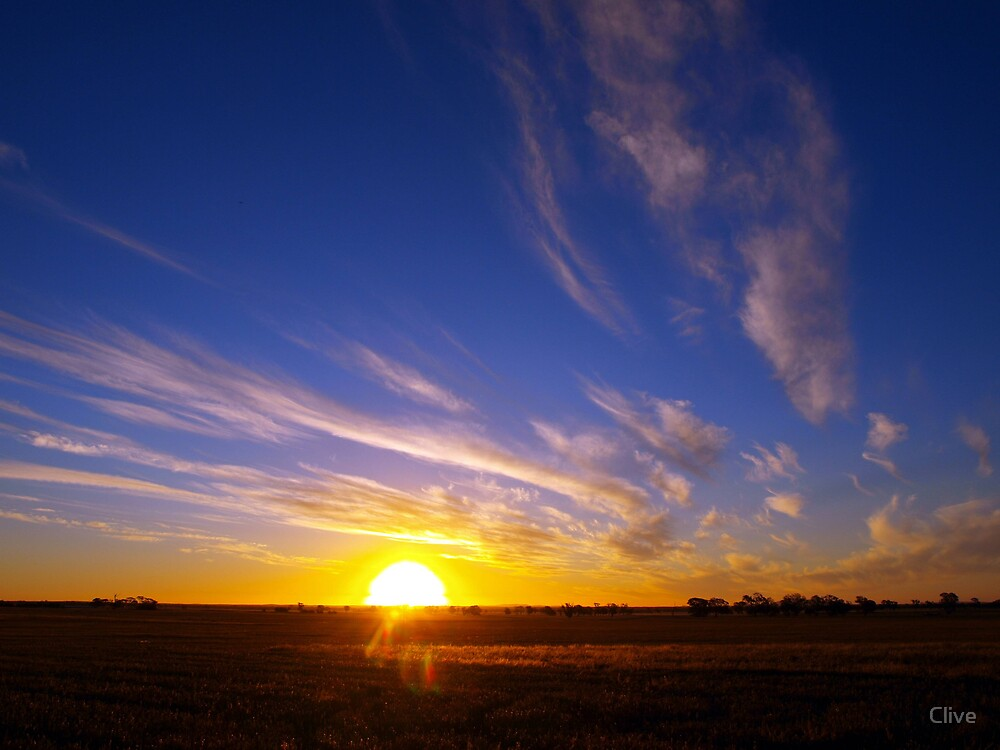 The going down of the sun by Clive