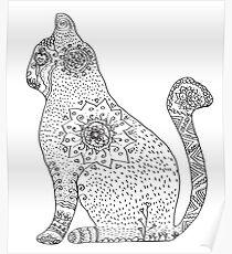 Póster Mandala Cat