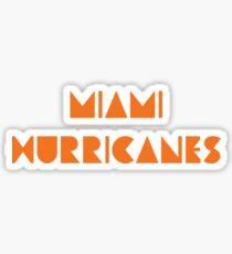 University of Miami Hurricanes Sticker