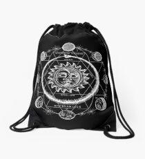 Boho moon Drawstring Bag